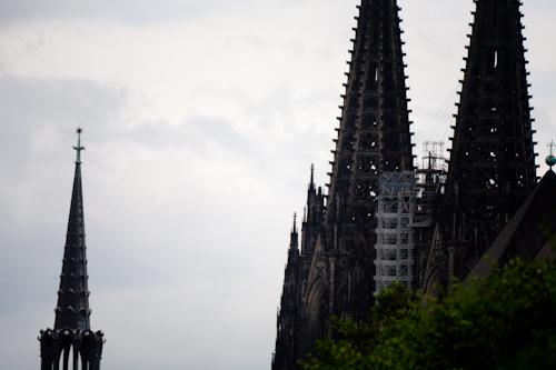 Kölner Dom mit Baugerüst