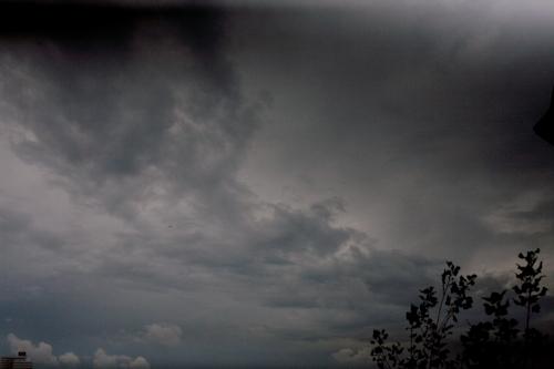 Unwetter und Flugzeug