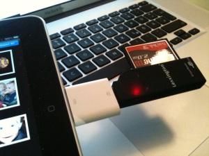 CF-Kartenleser an iPad USB-Adapter