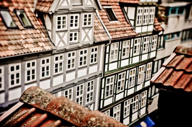 Puppenhäuser mitten in der Innenstadt
