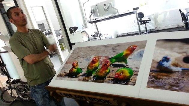 Benny Rebel zeigt sein Fine-Art Book Safari